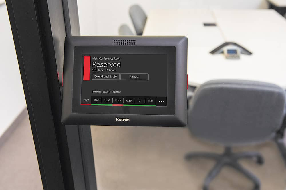 Extron Room Scheduling lets users book a room the easy way ...