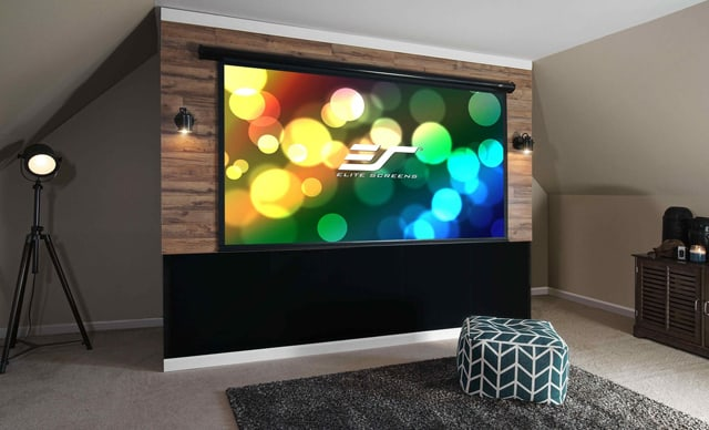New electric projector screen from elite connected magazine for Elite motorized projector screen