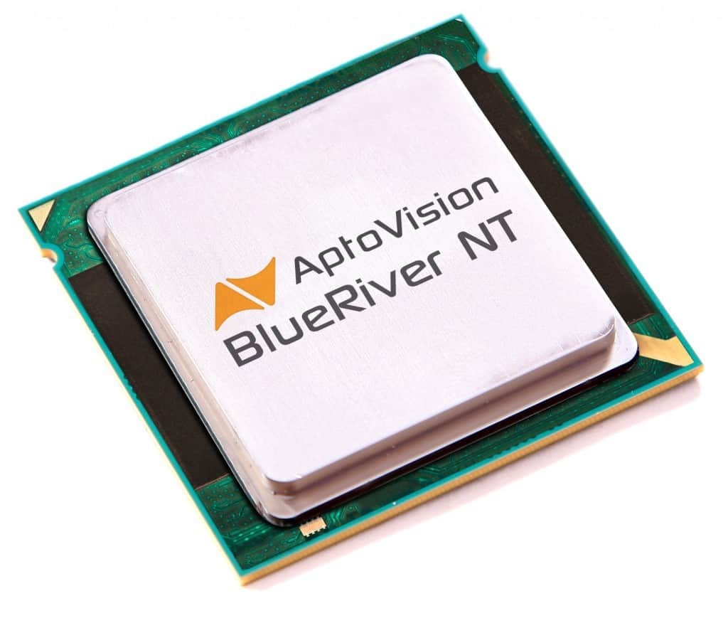 AptoVision's BlueRiver NT chipset is designed to enable AV distribution using simple, low cost Ethernet switches