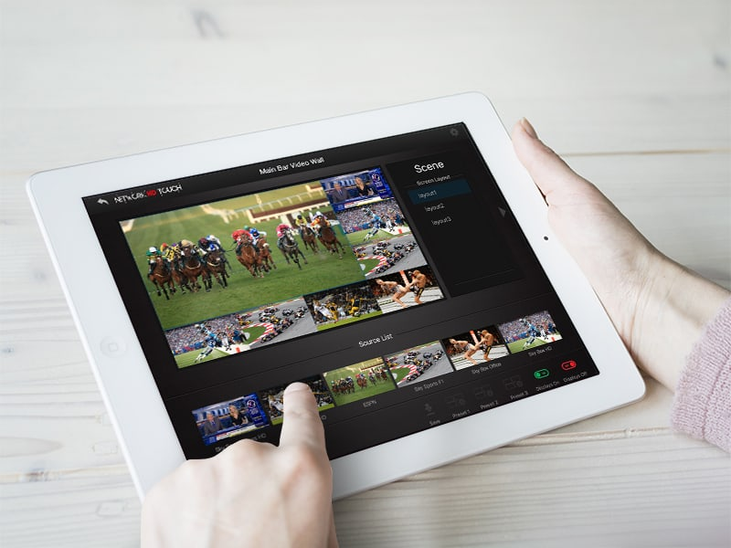 NetworkHD Touch on iPad