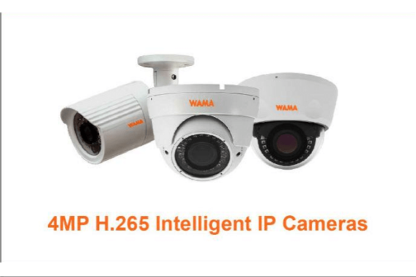 WAMA introduces new 4MP H.265 Intelligent IP cameras