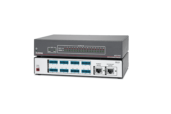 Extron now shipping 16 output audio expansion interface for DMP 128 Plus audio DSP processors