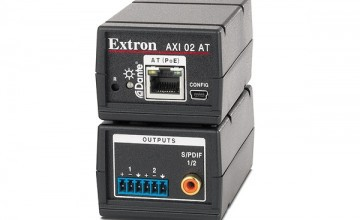 Extron's compact two-channel Dante audio interface now shipping